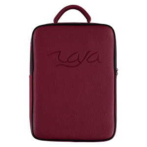 Raja Backpack Red Gold zipper front